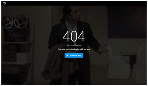 9gag –带号召性用语的404页面示例
