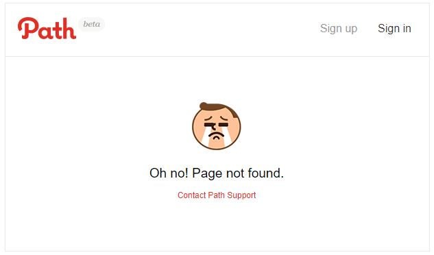 Path–超简单404页面设计